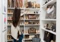 Closet tour featured by top US fashion blog, LuxMommy: closet organization, handbag collection, shoe collection, California closet