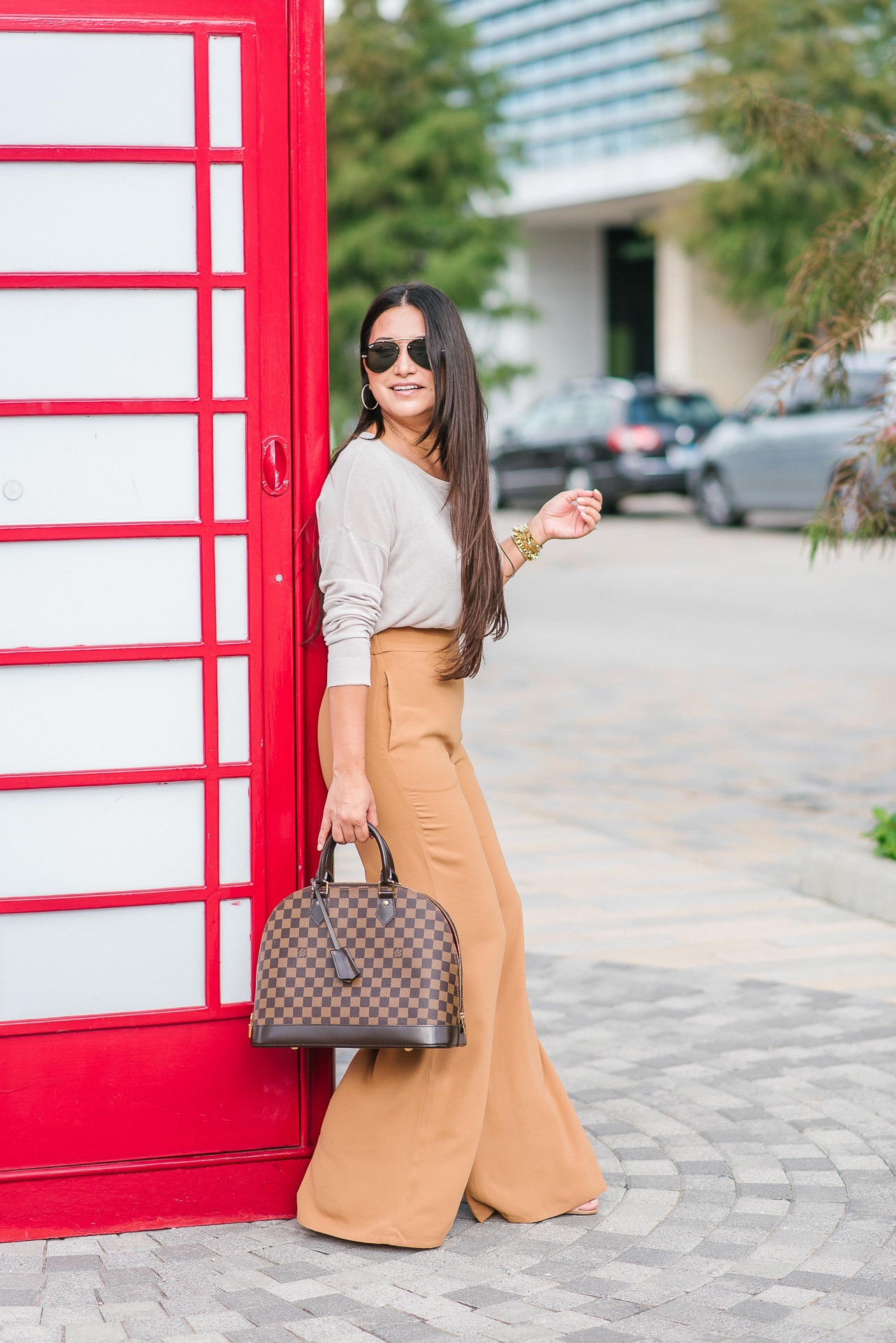 high waist wide leg, alma mm, work style, office outfit