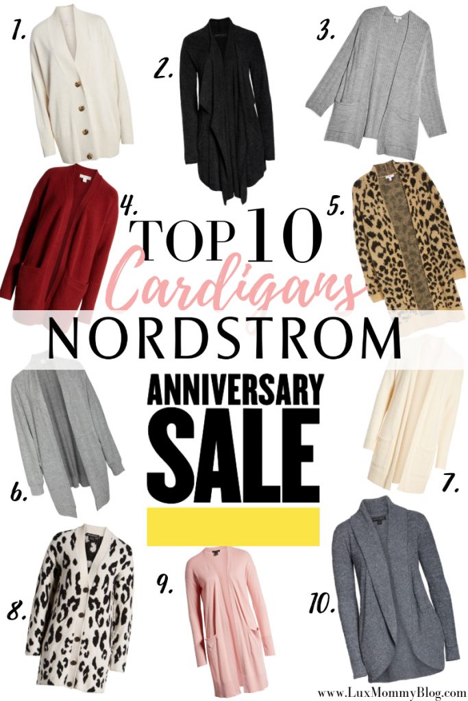 Top 10 Cardigans from the Nordstrom Anniversary Sale featured by top US fashion blog, LuxMommy
