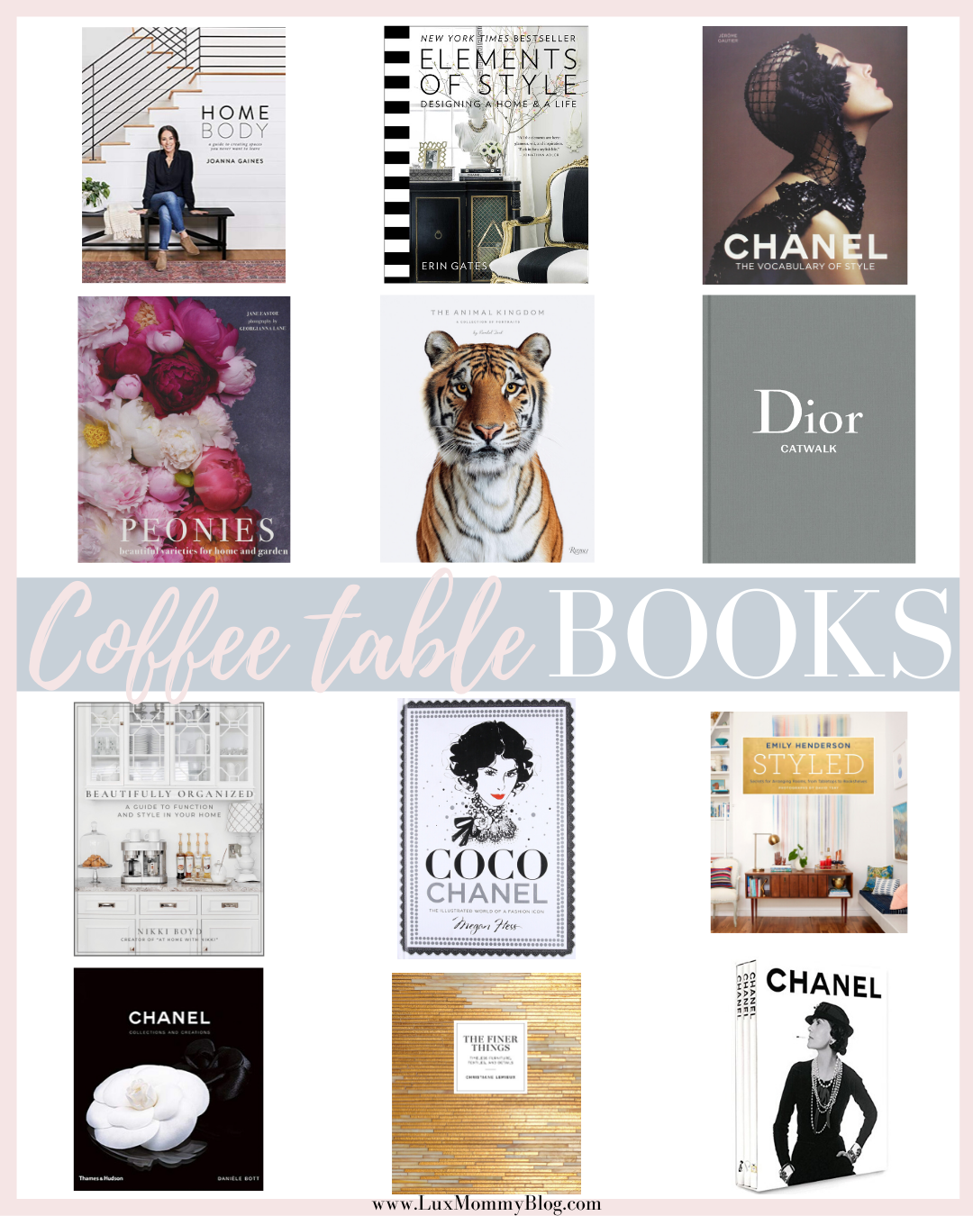 Houston Fashion Blogger LuxMommy Shares Her Coffee Table Books Collection