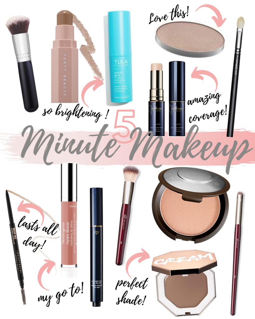 Houston fashion blogger shares her 5 minute makeup must haves.
