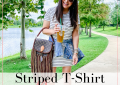 Houston fashion and lifestyle blogger LuxMommy shares striped t-shirt dresses