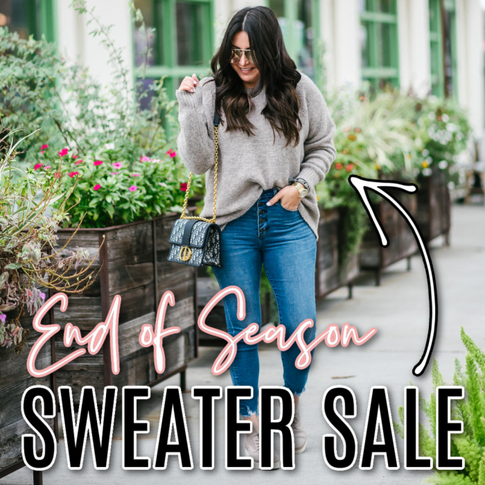Houston top fashion blogger LuxMommy shares an end of season sweater sale