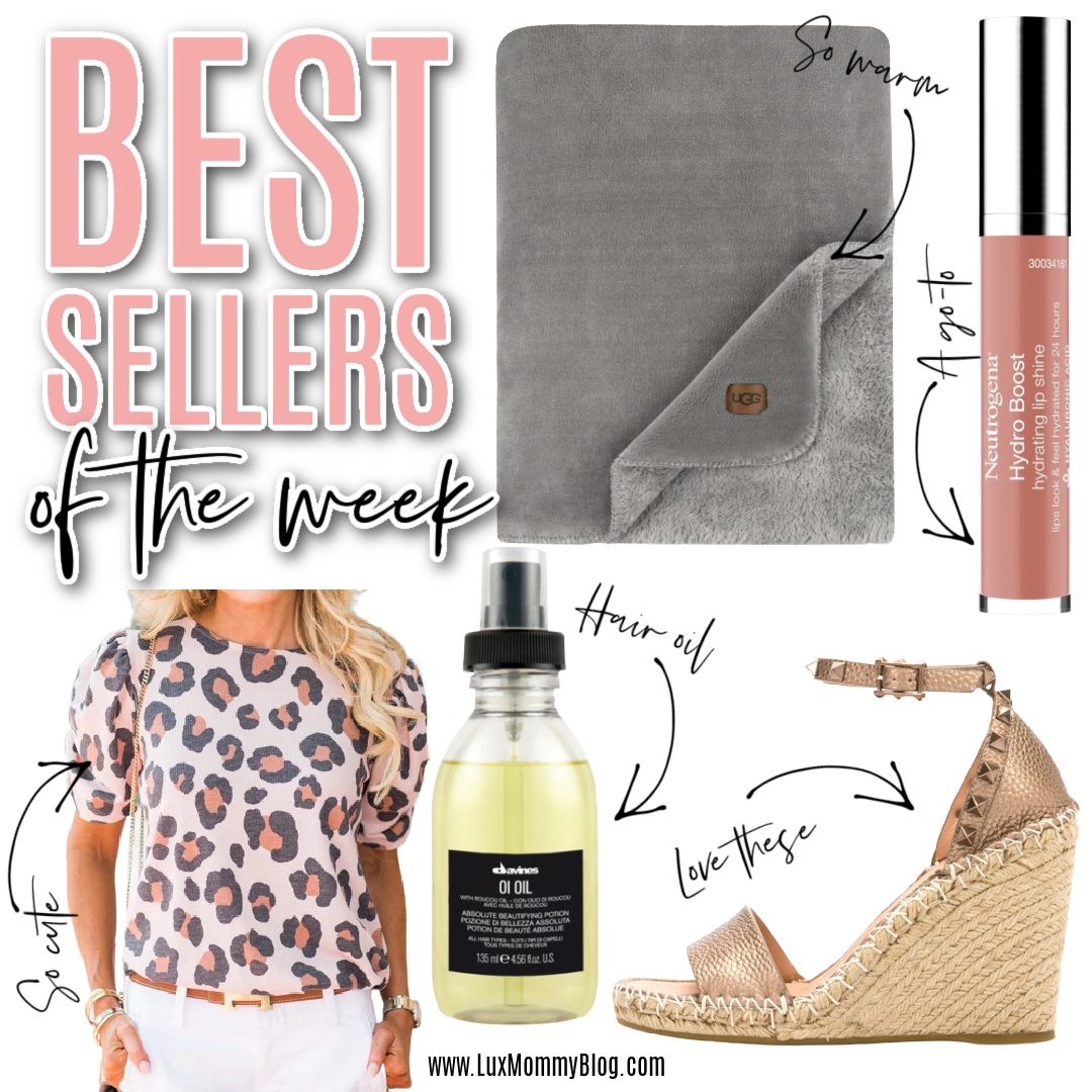 Houston top fashion blogger LuxMommy shares the weekly best sellers of the week