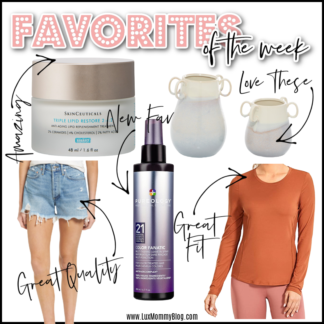 Houston top fashion and beauty blogger LuxMommy sharing favorites of the week
