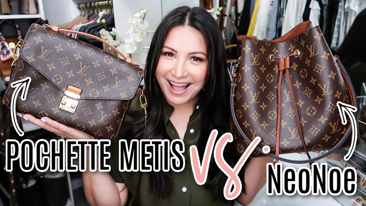 Houston lifestyle and fashion blogger LuxMommy comparing Pochette Metis & NeoNoe