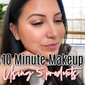 Houston top beauty and lifestyle blogger LuxMommy shares 10 minute makeup using only 5 products