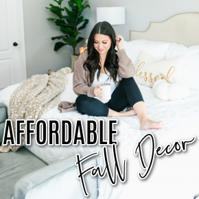 Houston top fashion and lifestyle blogger LuxMommy shares affordable fall decor from tj maxx