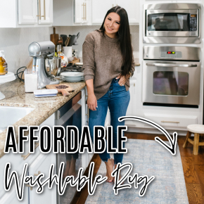 Houston top fashion and lifestyle blogger LuxMommy bakes cookies with her kids and shares some new Walmart Home finds including the most beautiful affordable washable rug