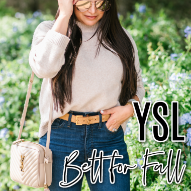 Houston top fashion and lifestyle blogger LuxMommy shares the perfect fall outfit from Nordstrom and a new ysl belt perfect for fall